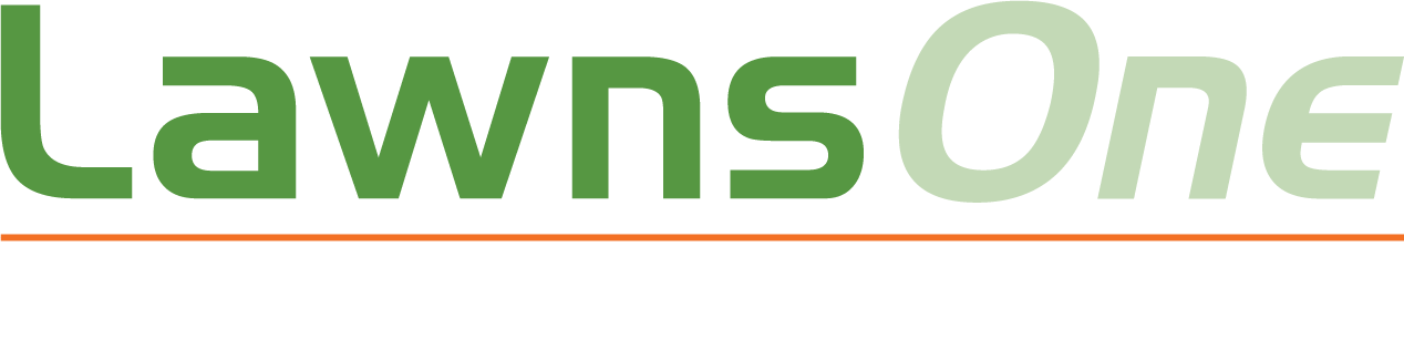 LawnsOne Logo with White Text Orange Rule.png